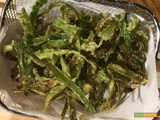 Bucce di asparagi fritte