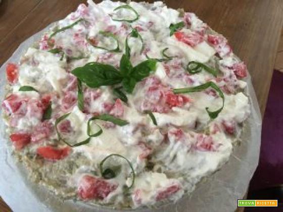 Cheesecake salato alle erbe profumate dell'estate mediterranea