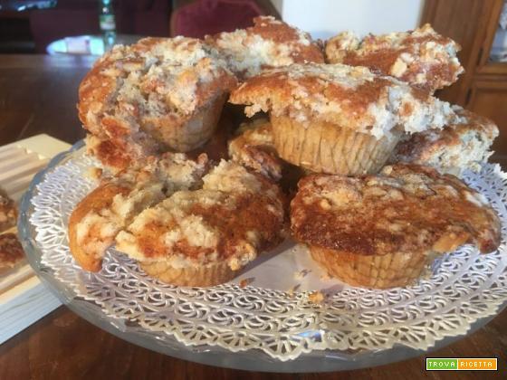 Muffin banane e noci con crumble croccante