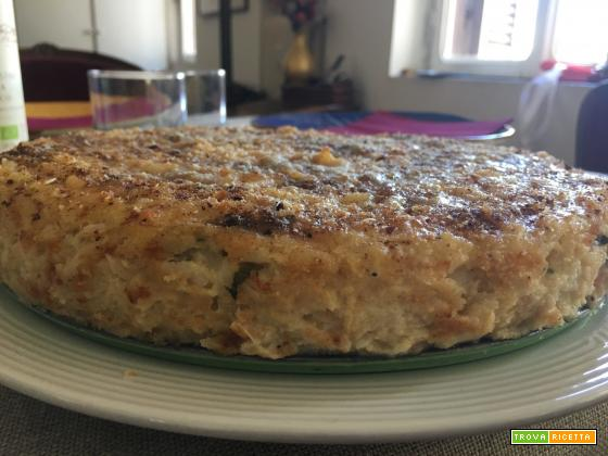 Pan riso: torta di riso al forno in bianco
