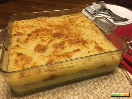 Patatta: sformato di patate al tomino