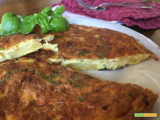 Tortilla di patate al basilico