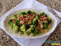 Gnocchi con broccoli e pancetta dolce