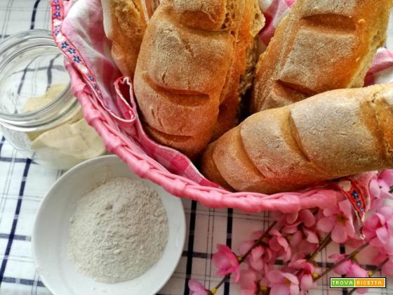 Pane alla segale con lievito madre