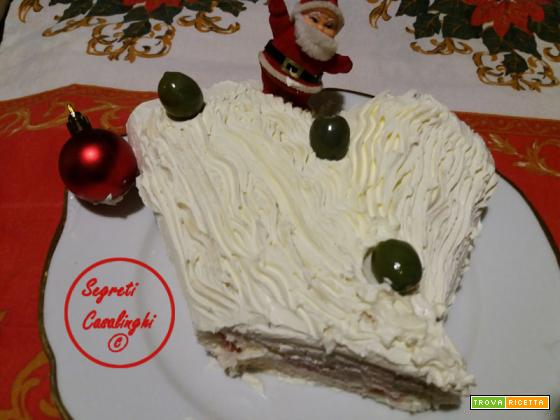 tronchetto salato natalizio