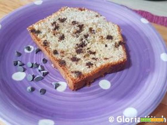 Plumcake Morbidoso con Gocce di Cioccolato Fondente