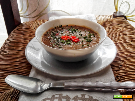 La zuppa di lenticchie delle Mauritius Mauritian Lentils Soup