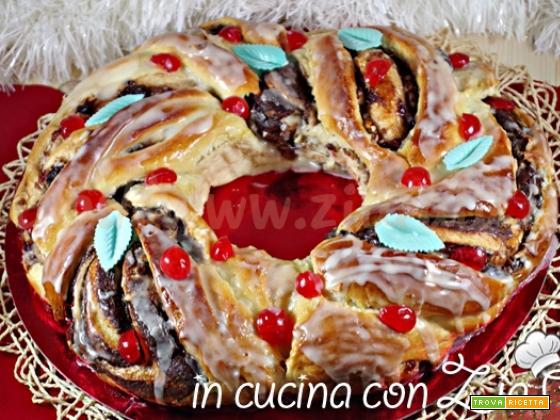 Ciambella dolce delle feste – Corona di Natale