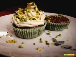 CHOCOLATE&PISTACCHIO MUFFIN WITH LIME FROSTING
