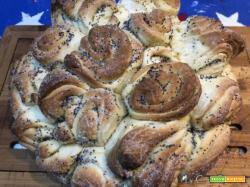 """Il pane """"elleboro"""" di Nonna Stephy, sembrava una torta di rose e non lo è, impastato col CuCo Moulinex"""
