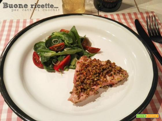 Pesce spada in crosta di pistacchio