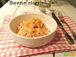 Risotto aglio olio e bottarga