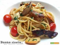 Spaghetti porcini e ovoli