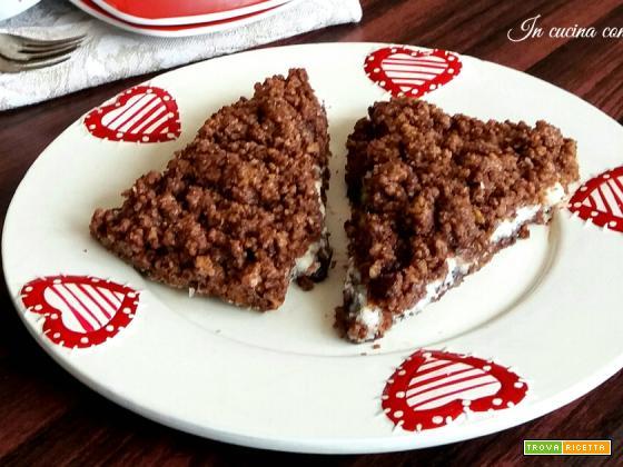 Sbriciolata al cacao con nutella e cocco