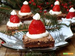 Brownies Babbo natale