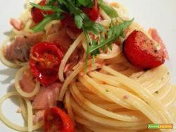 Spaghetti con trota salmonata e limone