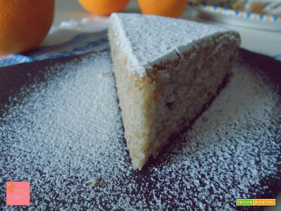 Torta soffice all'arancia con gocce di cioccolato – ricetta senza glutine, senza uova e senza burro
