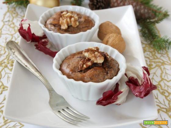 Sformatini caldi al radicchio e noci: un antipasto invernale