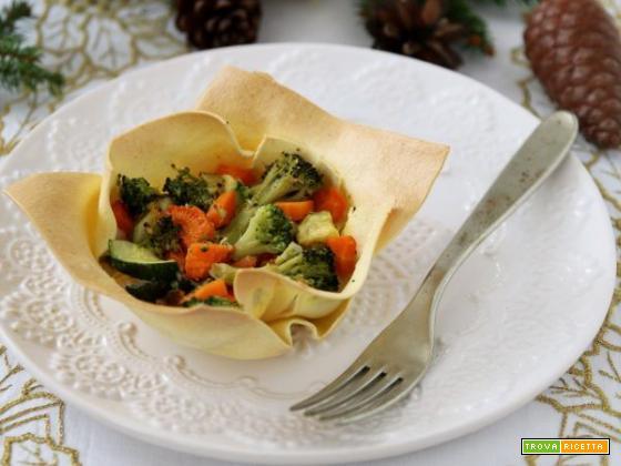 Cestino di lasagnetta con verdure: un primo semplice e sano