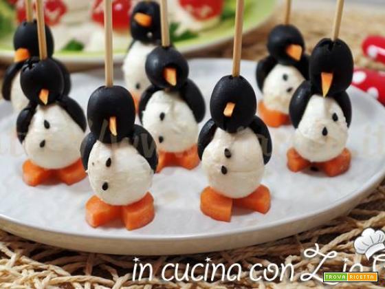 Pinguini olive carote e mozzarelline –  Antipasto carino