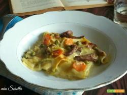 Lasagne funghi e verdure – primo piatto vegetariano