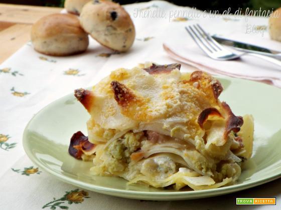 Tortino di patate broccoli e salsiccia