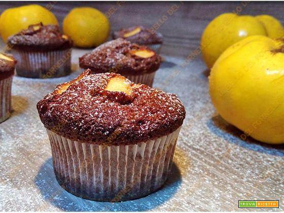 Muffins al cacao mele cotogne e castagne