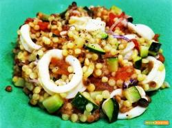 FREGOLA WITH SQUIDS AND ZUCCHINI