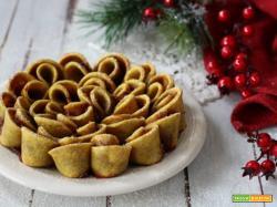 Torta fiore di sfoglia light ricotta e marmellata