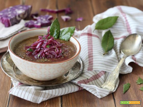 Lenticchie al curry con cavolo cappuccio agrodolce
