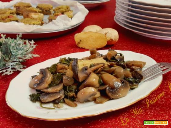 Funghi champignon con zenzero