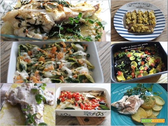 Pesce al forno per il pranzo delle feste