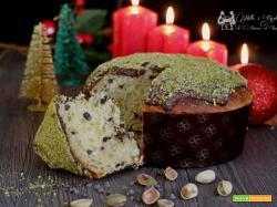 Panettone al pistacchio e gocce di cioccolato, ricetta soffice