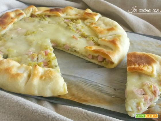 Quiche verza e patate con prosciutto cotto