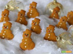 Biscottini pupazzo di neve miele e cannella