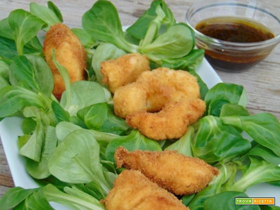 Bocconcini di pollo fritti allo zenzero