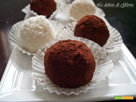 Praline di cocco e cacao ricetta facile