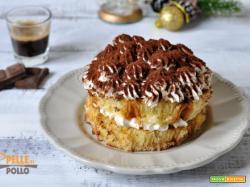 Tiramisù di pandoro con crema senza uova