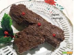 tronchetto natalizio dolce