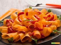 Carpaccio di zucca con pomodorini confit e frutto della passione