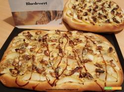 Pizza con Bluedessert all'aceto balsamico, pere e noci
