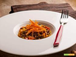 Le gustose lenticchie verdi mignon in guazzetto con curcuma