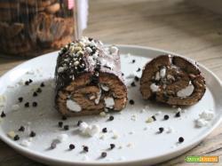 Rotolo di cioccolato alla crema di marroni e meringhe