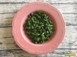Spätzle di spinaci con crema di Parmigiano