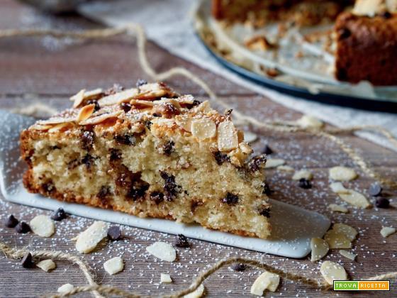 Torta 5 Minuti con Ricotta, Cioccolato e Mandorle
