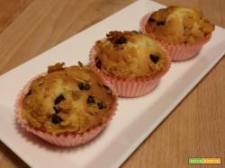 Mini muffin con corn flakes e gocce di cioccolato