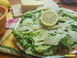 Carpaccio di salmone rucola e parmigiano