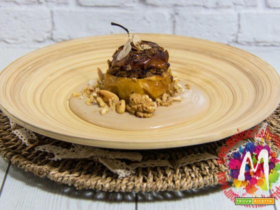 Mele ripiene di Riso e frutta secca con crema Vegan alla vaniglia – I Menù del SorRISO