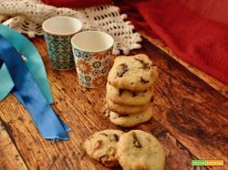 Cookies americani alle noci e cioccolato