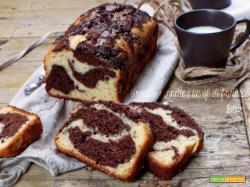 Plumcake variegato ricotta e cacao